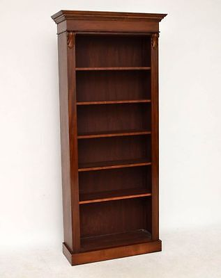 Reconstructed Antique Victorian Mahogany Open Bookcase