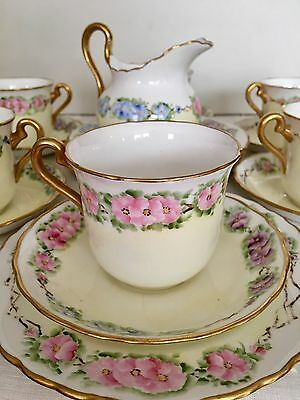 19pc TUSCAN FINE BONE CHINA 6-teacups 6-saucers 6-dessert Plates & Cream Pitcher