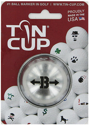 Tin Cup. Golf Ball Marker System. Alpha Players Letter B