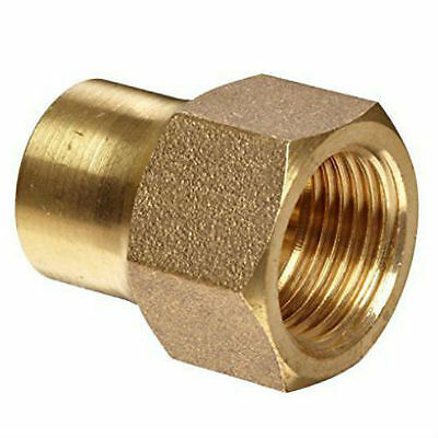 """SAE Brass 45° Flare Tube Fitting. Forged Flare Nut (Long). 3/8"""" Tube."""