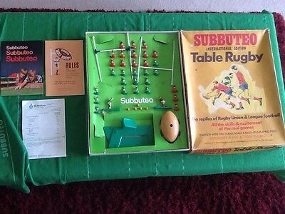 Subbuteo Table Rugby. International Edition.
