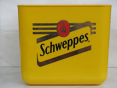 Schweppes yellow ice bucket plastic Registered Design England used rare