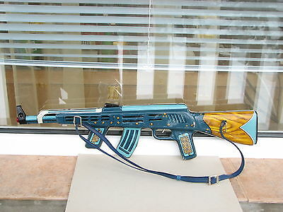 AK 47 tin toy gun metal used rare arms arsenal for boy collectible