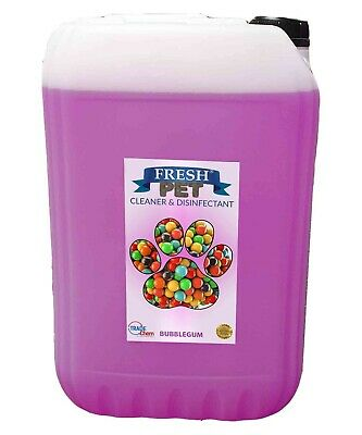 25L FRESH PET BUBBLEGUM Kennel Dog / Cat Disinfectant, Cleaner, Deodoriser