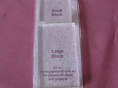 Acrylic Block Set For Clear Stamps (2 X Blocks)