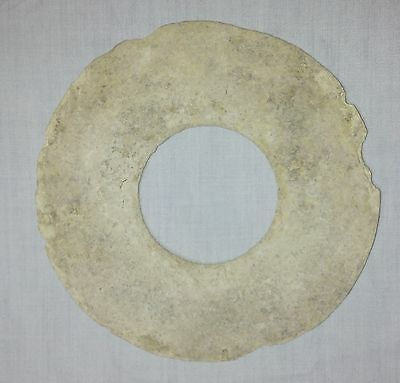 Antiques Asia Ban Chiang Prehistoric Neolithic Stone Disk Bangle Bracelet