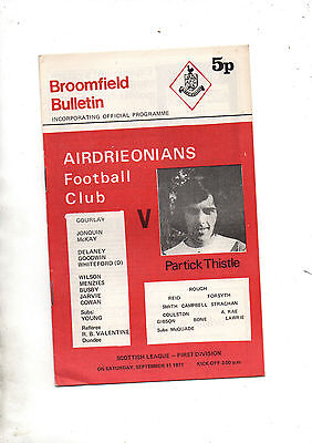 AIRDRIEONIANS v PARTICK THISTLE 1971/2