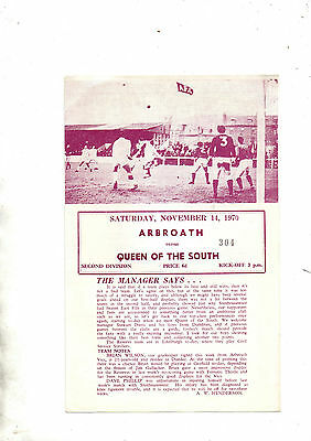 ARBROATH v QUEEN OF THE SOUTH 1970/1