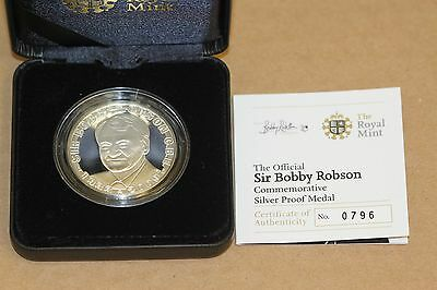 Sir Bobby Robson Commemorative Silver Proof Medal by The Royal Mint 1933 - 2009