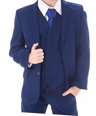 Boys Age 6 Navy Suit. For Wedding Or Smart Occasions Christening