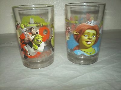 Shrek the Third Set of 2 Glasses McDonalds 2007