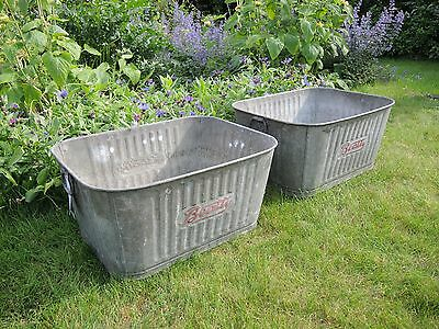 Vintage Beatty Galvanised Wash Tub Garden Planter Tin Bath Drinks Cooler (661)