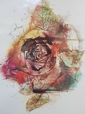 Water Colour Rose Flower Temporary Arm Leg Tattoo Sticker 3D  Body Art  Adults