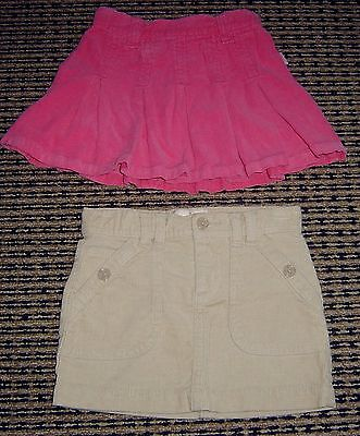 2 X  Girls Cord Skirts Sz 3  Esprit And Old Navy