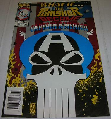WHAT IF #51 THE PUNISHER BECAME CAPTAIN AMERICA (Marvel Comics 1993) (FN/VF)