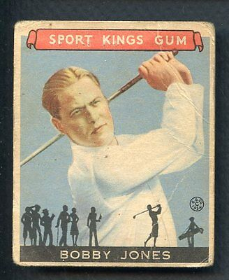 1933 Goudey Sport Kings # 38 Bobby Jones Golf Good Paper Loss 321790 (Kycards)
