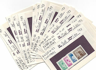 Costarica Stamp Lot On Dealers Show Cards