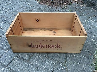 Inglenook Wine Box Crate Wooden Case 1980 California Vineyard Cabernet Savignon