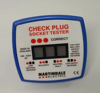 Martindale CP501 Check Plug Socket Tester Household Safety 13A Testing