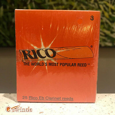 Rico E-flat Clarinet Reeds - Box of 25, Strength Number 3