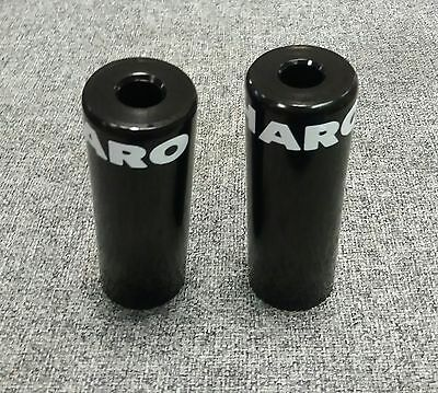 Haro Steel Cylinder Stunt Pegs For BMX Black 14mm