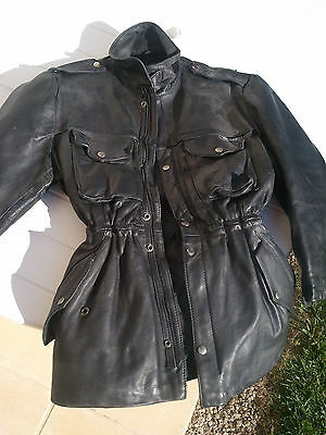 Cuir Veste Moto Femme Well Taille S