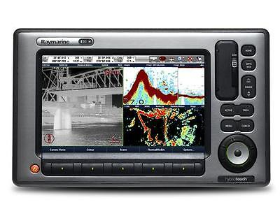 Raymarine E-90 Wide Mfd With Cd Manuals, Cables, Flush Mount  Good Condition