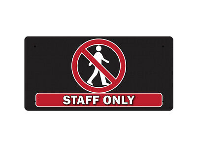WP_FUN_113 STAFF ONLY (black background) - Metal Wall Plate