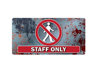 WP_FUN_114 STAFF ONLY (metal rust style background) - Metal Wall Plate