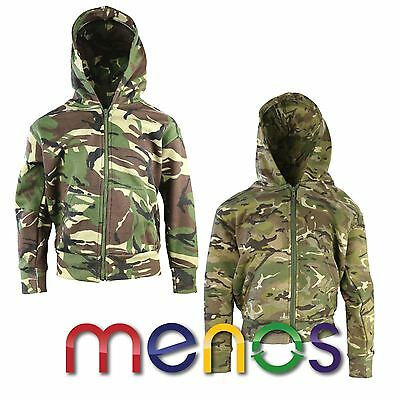 Kombat Uk Kids Tactical Fleece Hoodie - Army Military Armed Special Forces