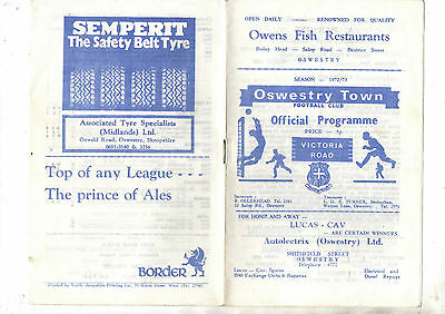 OSWESTRY TOWN v FORMBY 1972/3