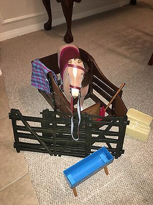 American Girl Horse and Stable set with accessories