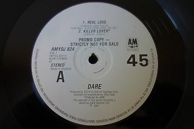 "Dare  ‎– Real Love 12"" Promo Single  A&M Records ‎– AMYDJ 824"