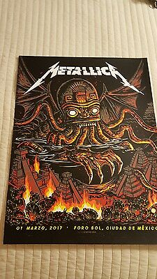 Metallica Mexico City posters set of 3 from 3/1, 3/3, & 3/5 shows S/N Munk One