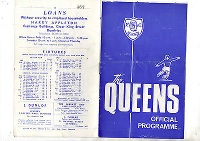QUEEN OF THE SOUTH v COWDENBEATH 1969/70