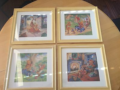 Winnie the Pooh & Friends, Set of 4 Picture Wall Decor, EUC