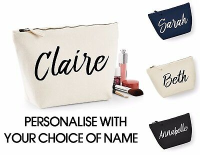 Personalised Make Up Cosmetic Wash Bag ANY NAME Birthday Christmas Gift Present