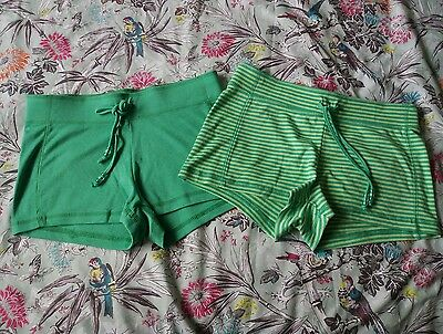 2 pairs ladies shorts size 10 12 one new