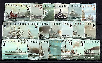 Marshall Islands 1997 War Ships 20 x MNH stamps WS4703