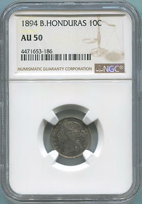 1894 British Honduras 10 Cents. NGC AU50