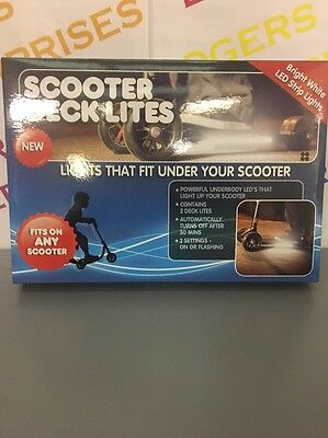 Scoot Scooter Deck Lites White LED Strip Lights NEW & Boxed