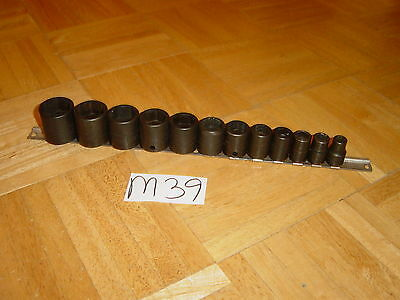 Snap-On Tools 12 Piece 3/8 Drive Sae. Short Impact Socket Set 6 Point 212Imfya