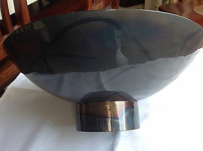 Unique Hand-Crafted Metal Bowl By Rob Mulholland - Signed             (486)