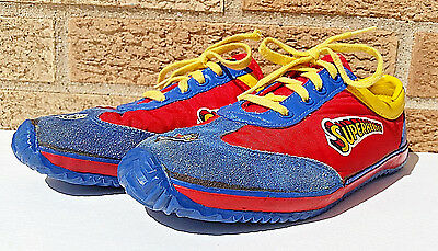 Rare Vtg 1977 DC COMICS Superman Sneakers Super Hero Kid Sz 2.5 Retro Boy Girl