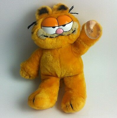GARFIELD Soft Toy Original Vintage Plush, 1981, Paw Window Sucker, VGC