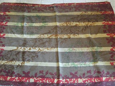 Antique Vintage Primitive Wool Rug Buggy Blanket Old Buggy Blanket Rug 60 X 43