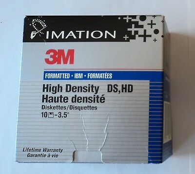 "10 Diskettes 3,5"" - 1,44 MB Alta Densidad HD - 3M Imation"