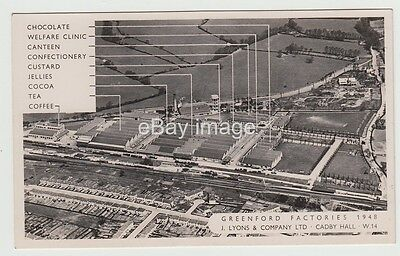 Greenford - Lyons factories (chocolate, tea, coffee etc) 1948 RP postcard Ealing