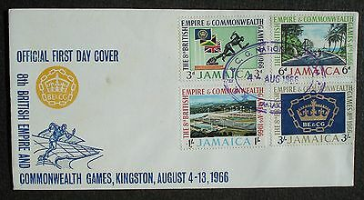 JAMAICA # FDC, 8 th BRITISH EMPIRE COMMONWEALTH GAMES 1966