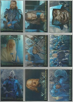 """Lord Of The Rings ROTK - """"Prismatic Foil"""" 10 Card Chase Set #1-10"""